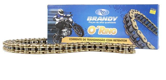 Corrente de Transmissão 520HO - 106 Twister / Ninja 250 C/ RET Dourada (BRANDY)