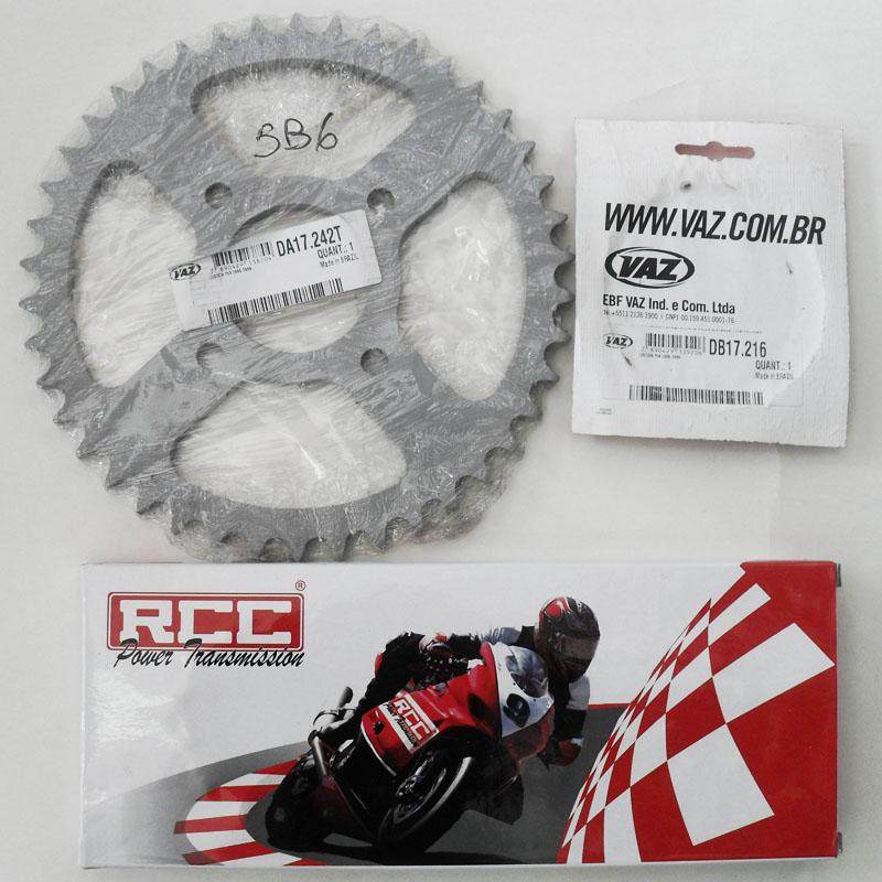 Kit Relação Amazonas 250 Custom 42X16 - 530HU120 C/ RET  (VAZ + RCC)