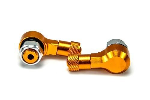 Valvula Pneu S/ Camera Alumínio 90 Graus (bering) PAR Dourado