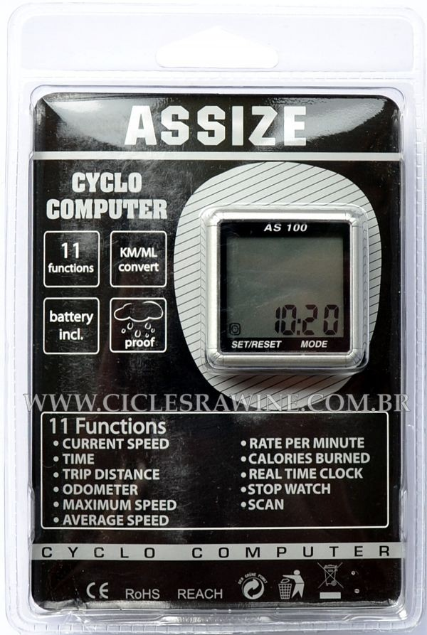 Ciclo Computador 11 Funções AS-100 Branco (assize)