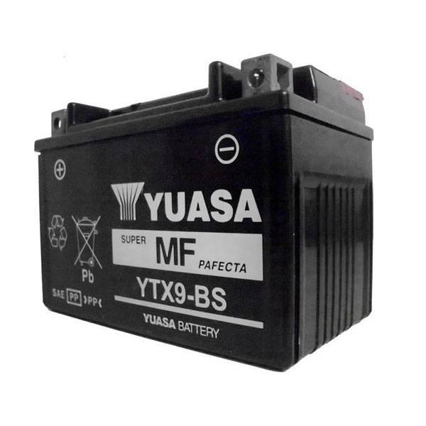 Bateria CB 500 / Shadow 600 / XT600E / Ninja 250 300 / Horizon 250 YTX9-BS (yuasa)