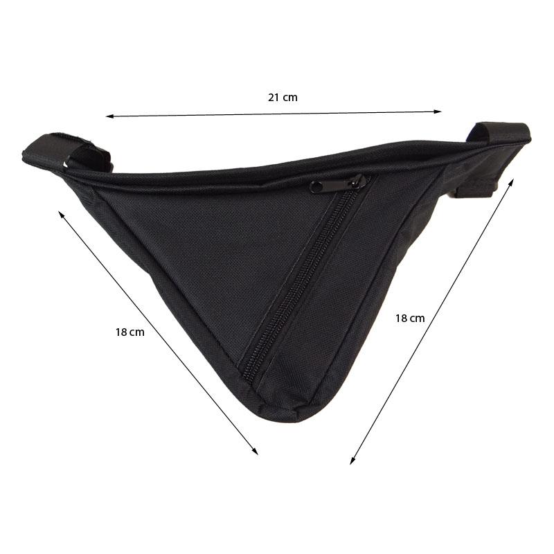 Bolsa de Quadro Triangular Preto