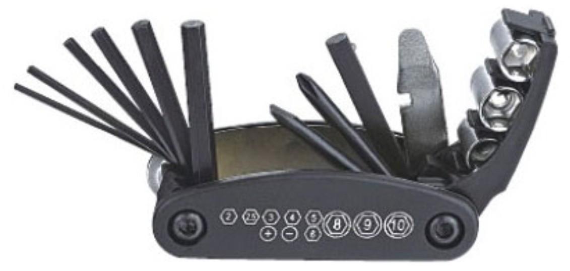 Kit Ferramenta Canivete 14 PÇS Preto (kenli)