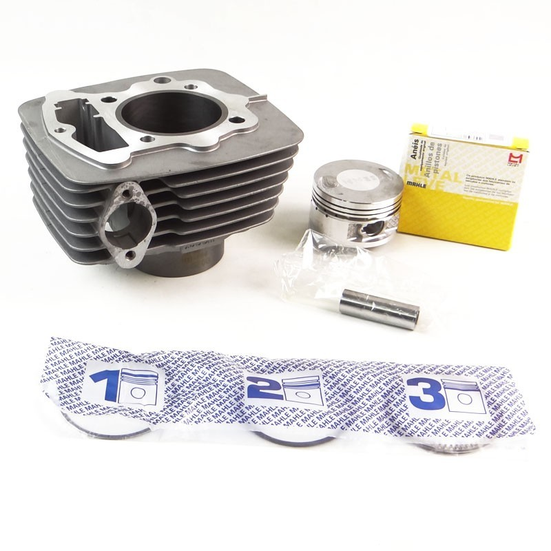 Kit Cilindro Motor + Pistão + ANEL Honda CBX 200 / NX 200 / XR 200 (metal Leve)