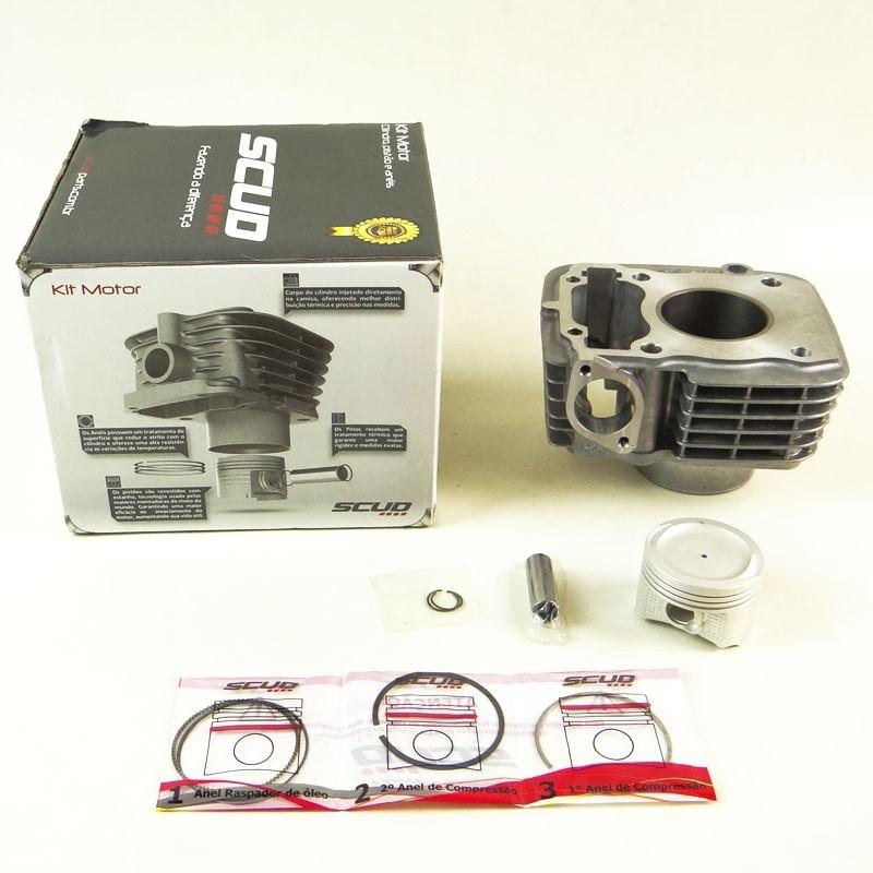 Kit Cilindro Motor + Pistão + ANEL Honda FAN 125 09 (SCUD)
