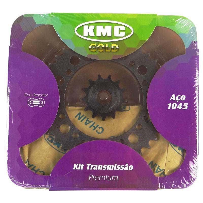 Kit Relação Yamaha Tenere 250 13X39 - 520UO106 C/ RET (KMC GOLD)