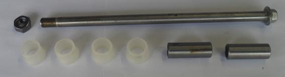 Eixo do Quadro Elastico CB 400 / CB 450 C/ Porca 2 Buchas Completo (reggio)