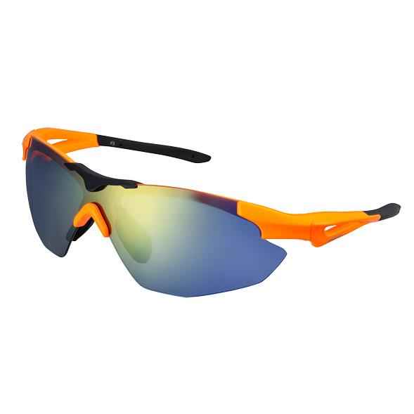 óculos Ciclismo Shimano S40R-L Laranja Neon com 2 Lentes