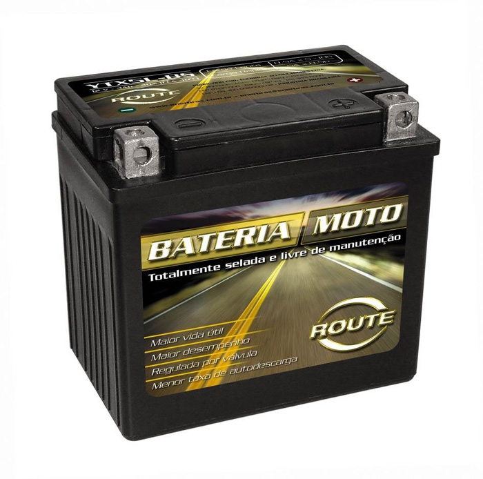 Bateria Titan 150 ESD / Twister / Tornado / Falcon / Fazer YTX7L-BS (route)