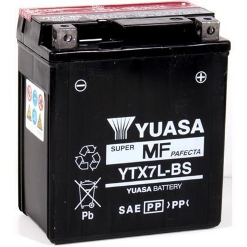 Bateria Titan 150 ESD / Twister / Tornado / Falcon / Fazer YTX7L-BS (yuasa)