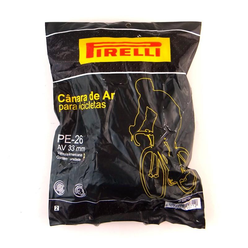 Camara AR Bicicleta 26 PE Bico Grosso 26X1.75 - 2.00 33MM (pirelli)