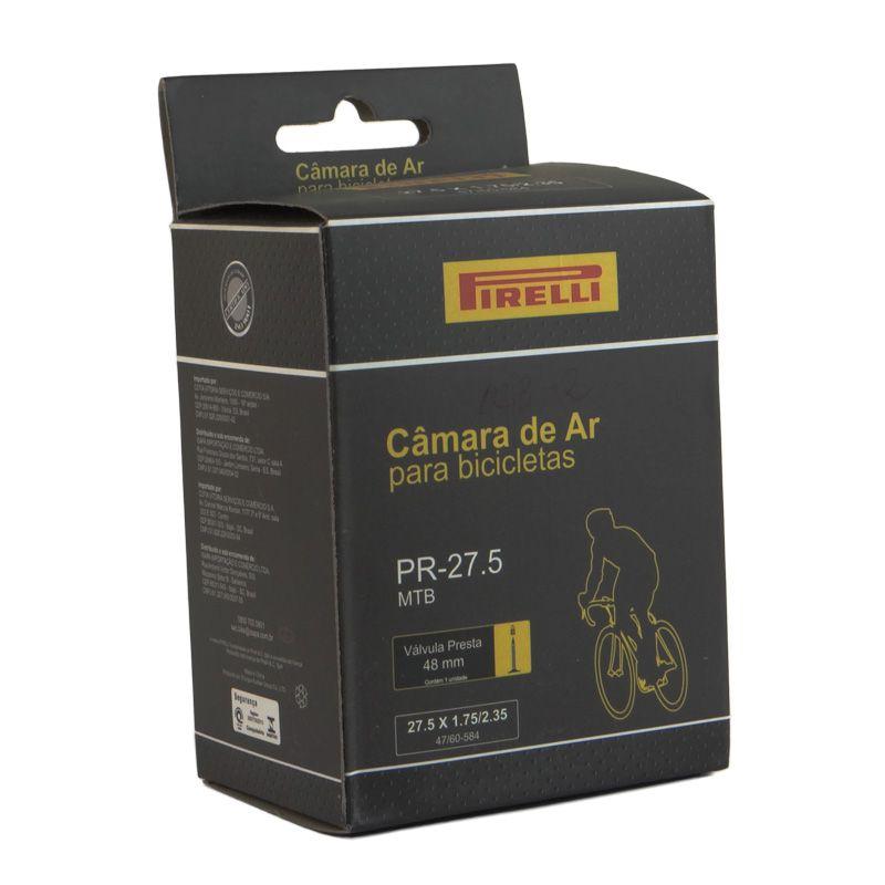 Camara AR Bicicleta 27,5 X 1.75/2.35 Valvula Presta Bico Fino 48MM (pirelli)