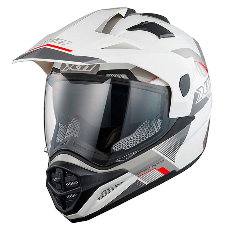 Capacete X11 Crossover X3 SV Viseira Interna Fume Branco - FM Motos 4243527911a