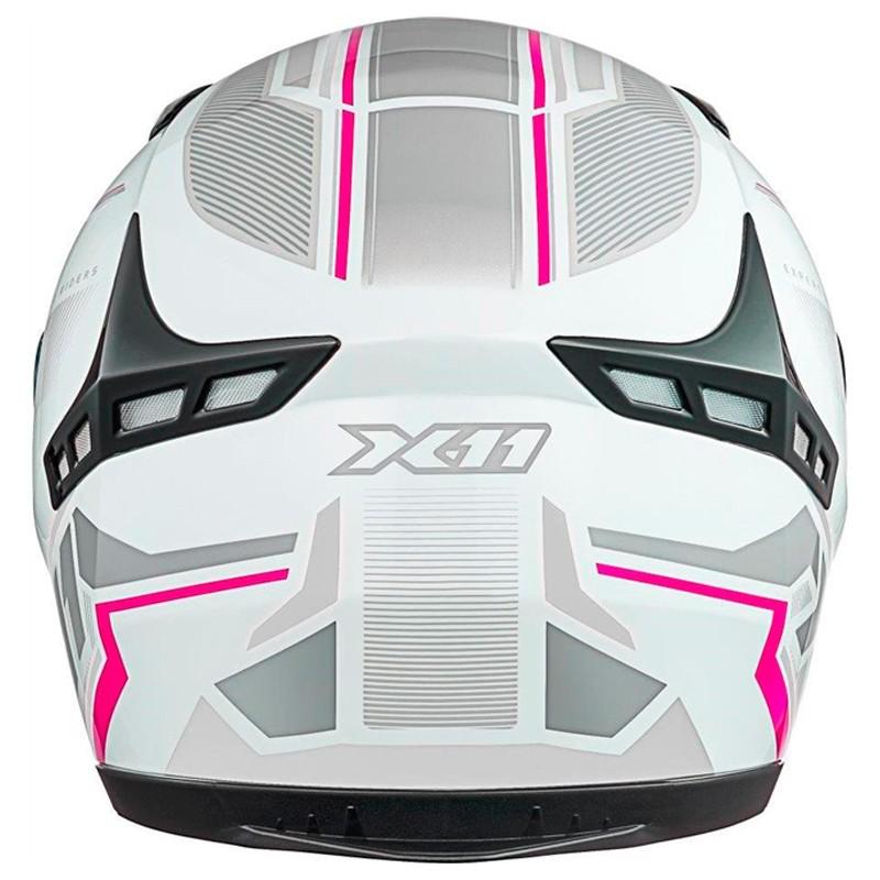 Capacete X11 VOLT DASH BRANCO/ROSA