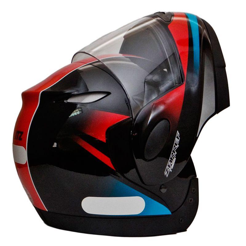 Capacete Zarref V4 Racer PRETO/AZUL
