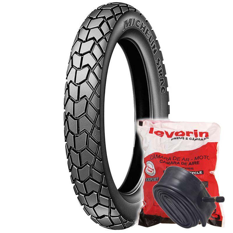 Kit Pneu Michelin Sirac 2.75-18 42P TT + Câmara MSA18 Levorin