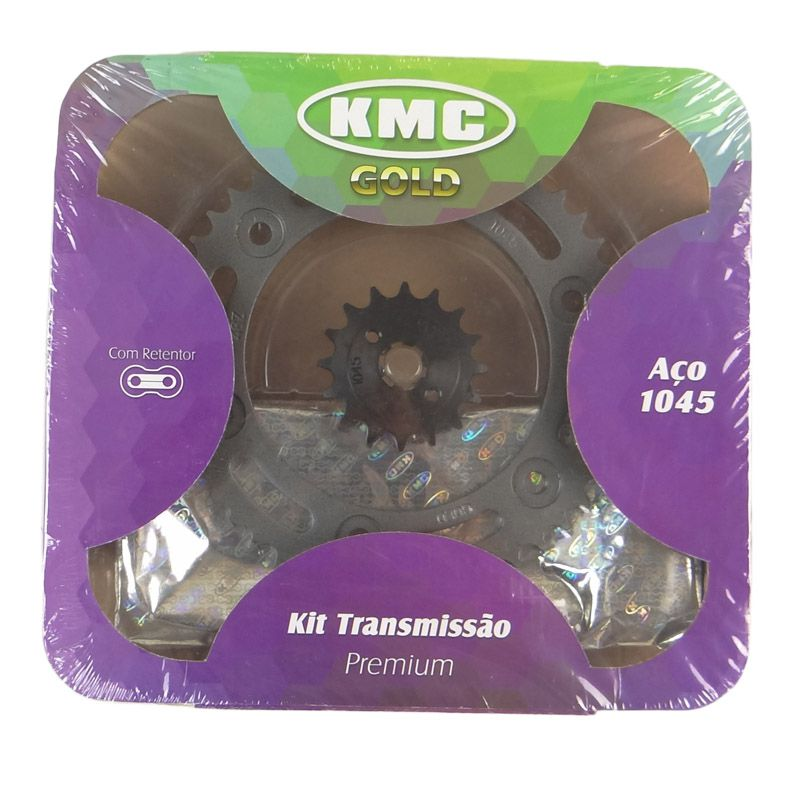 Kit Relação Honda NXR BROS 160 16X48 - 428HUOX128 com Retentor (KMC GOLD)
