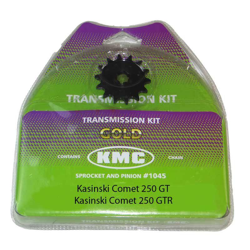 Kit Relação Kasinski Comet 250 14X46 - 520H X 128 (KMC GOLD)