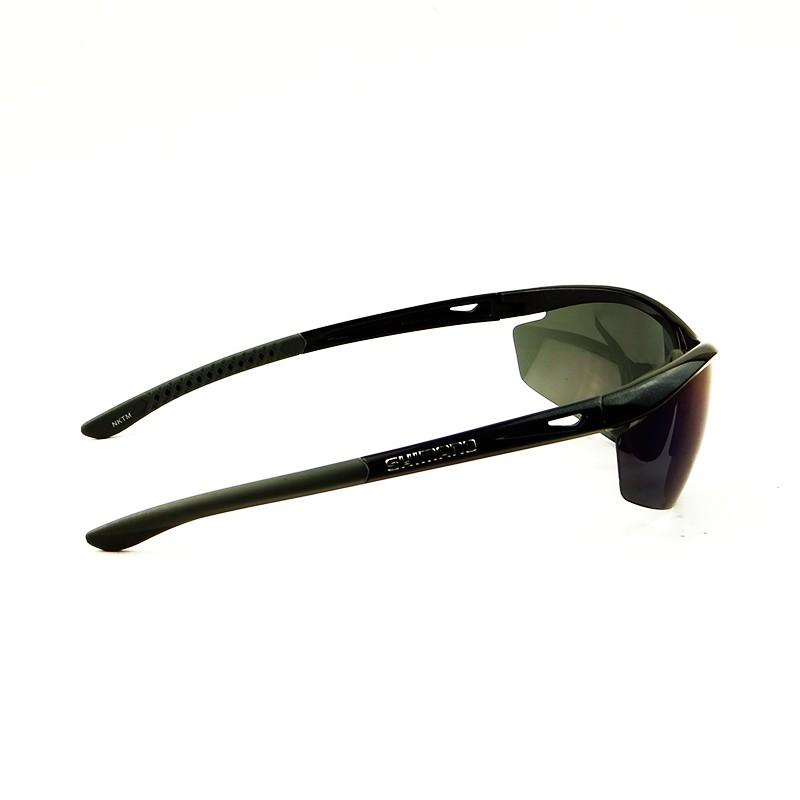 óculos Ciclismo Shimano CE-S20R Preto Metalico Lente Fume Espelhado e Cristal