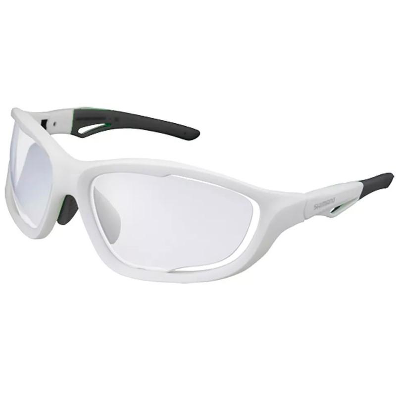6f0780b46a187 óculos Ciclismo Shimano CE-S60X-PH Fosco Branco e Preto Lente Fotocromatico