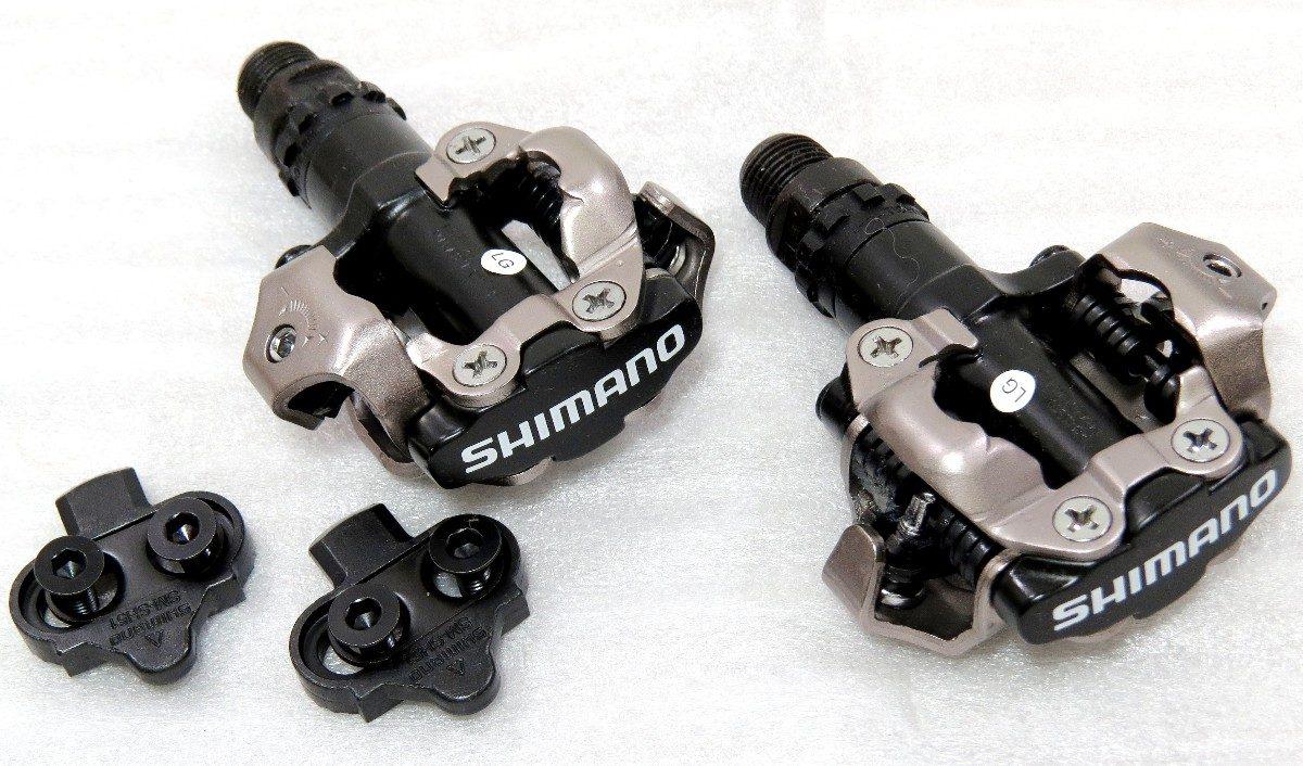 Pedal Bicicleta MTB Aluminio PD-M520 sem Refletor com Tacos Preto (shimano)