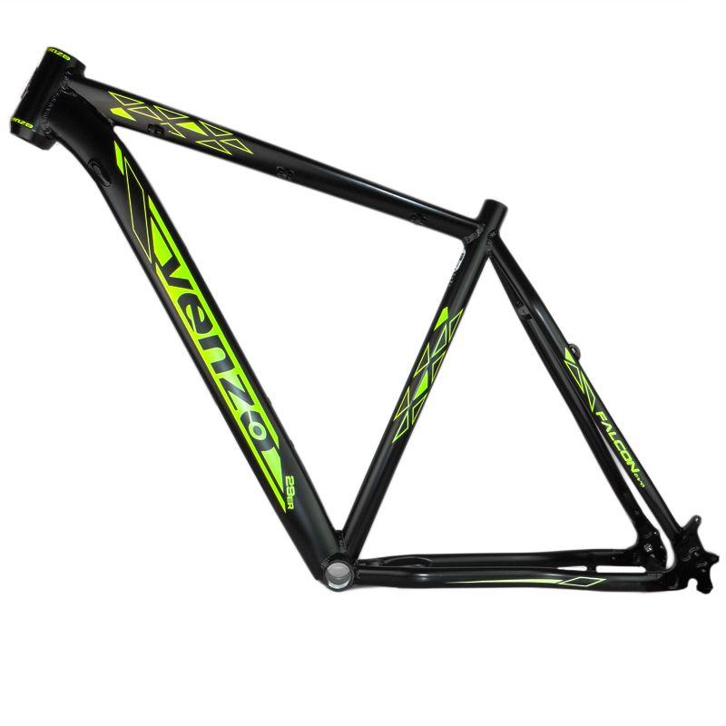 Quadro Bicicleta MTB 29 Venzo Falcon EVO PRETO/AMARELO