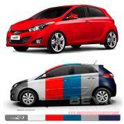 Friso Lateral Transparente Hyundai Hb20 2012 13 14 15 16 17 18 19 Adere a cor do carro