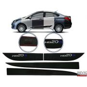 Friso Lateral Inferior Borrachão Hyundai Hb20 Sedan 2012 13 14 15 16 17 18 19
