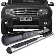 Estribo Oblongo Renault Duster Preto / Cromado 2012 13 14 15 16 17 18 19