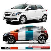 Friso Lateral Transparente Chevrolet Onix 2012 13 14 15 16 17 18 19 Adere a cor do carro