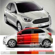 Friso Lateral Transparente Ford Ka 2015 16 17 18 19 Adere a cor do carro