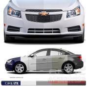 Friso Lateral Transparente Chevrolet Cruze 2011 12 13 14 15 16 17 18 19 Adere a cor do carro