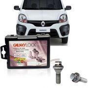 Trava Antifurto Anti Roubo de Roda Parafuso Porca Farad Galaxylock Renault Kangoo 2000 à 2011 Com Mais de 10.000 Segredos