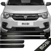 Friso Lateral na Cor Original Fiat Mobi 2016 17 18 19 Preto Fosco