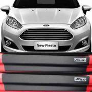 Kit Adesivo Soleira Premium Resinada Ford New Fiesta