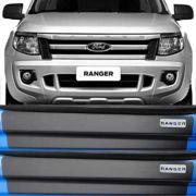 Kit Adesivo Soleira Premium Resinada Ford Ranger