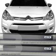 Kit Adesivo Soleira Premium Resinada Citroen C3 C-3