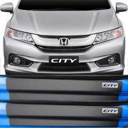 Kit Adesivo Soleira Premium Resinada Honda City