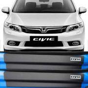 Kit Adesivo Soleira Premium Resinada Honda CIvic