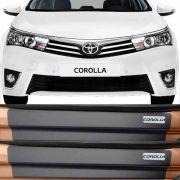 Kit Adesivo Soleira Premium Resinada Toyota Corolla