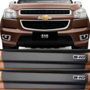 Soleira Resinada Mini Premium Chevrolet S-10 S10 2012 13 14 15 16 17 18 19 Cabine Dupla 6 Peças