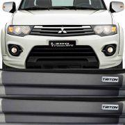 Kit Adesivo Soleira Premium Resinada Mitsubishi Triton