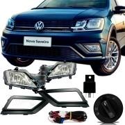 Farol de Milha Auxiliar Volkswagen Saveiro 2017 18 19 Acompanha Botão e Chicote