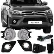 Farol de Milha Auxiliar Toyota Hilux 2018 19 Acompanha Botão e Chicote