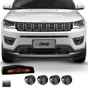 Sensor de Estacionamento 4 Pontos Jeep Compass com Alerta Sonoro