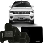 Kit Tapete Carpete Confort Jeep Compass 2016 17 6 Peças Completo