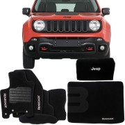 KIT TAPETE CARPETE BOLSA TAPETE PORTA MALAS JEEP RENEGADE 2015 16 17