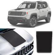 Adesivo Faixa Esportiva Para Capô Jeep Renegade 2015 Até 2019 Modelo Top de Linha