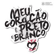 Adesivo Licenciado Corinthians Meu Coração é Preto e Branco
