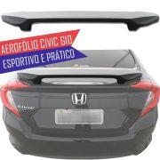 Aerofólio Perfil Baixo Tg Poli Honda Civic G10 2017 18 19 Esportivo